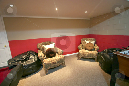 Sitting Area stock photo, An Interior Sitting Area of a Home by Lucy Clark
