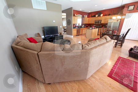 Living Area stock photo, An Interior Living Area in a Home by Lucy Clark