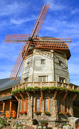 Windmill stock photo, Windmill in the center of rest LIDO in Riga by Tatjana Keisa