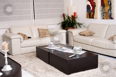 Living room stock photo, Modern living room with modern furniture by Get4net