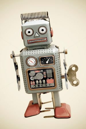 Robots stock photo, Retro robot by Charles Taylor