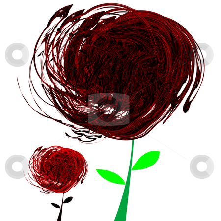 Abstract black and red flowers stock vector clipart, Abstract black and red flowers, vector art illustration; more drawings in my gallery by Laschon Robert Paul