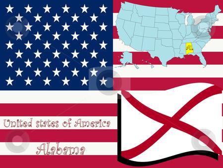 Alabama state illustration stock vector clipart, Alabama state illustration, abstract vector art by Laschon Robert Paul