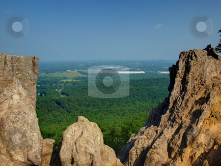 Through the rocks stock photo, Crowders Mountain State park in North Carolina. Located in Gaston County. by Tim Markley