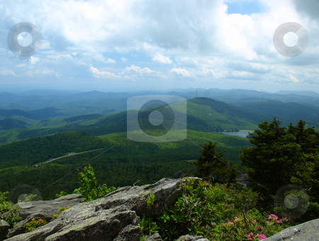 Mountain vista stock photo, View seen from Grandfather Mountain Sate Park in North Carolina by Tim Markley