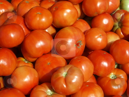 Tomatoes stock photo, Ripe tomatoes at the farmers market by Tim Markley
