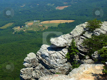 Mountain view stock photo, View along the trail at Hanging Rock State Park by Tim Markley