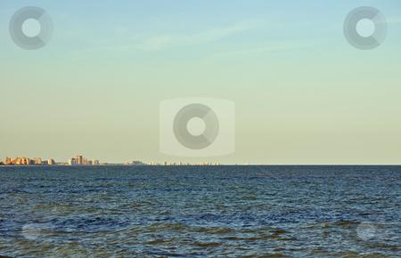 Myrtle Beach skyline at dusk stock photo, Myrtle Beach skyline at dusk by Liane Harrold