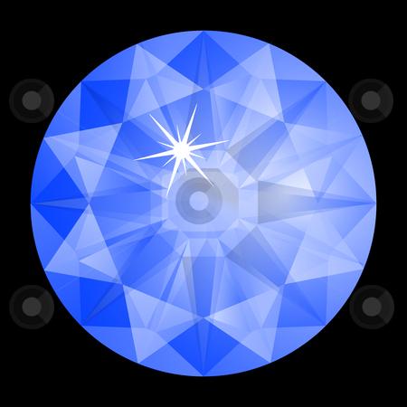 Blue diamond against black stock vector clipart, Blue diamond against black background, abstract vector art illustration by Laschon Robert Paul