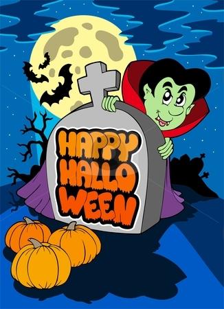 Happy Halloween theme 5 stock vector clipart, Happy Halloween theme 5 - vector illustration. by Klara Viskova