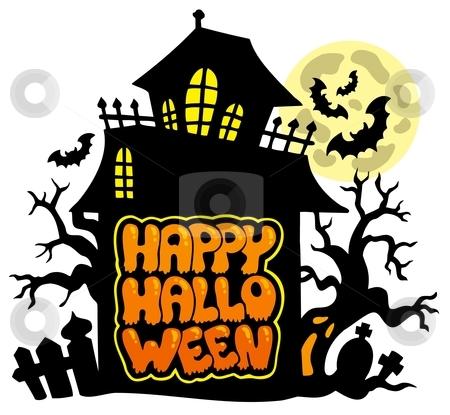 Happy Halloween theme 2 stock vector clipart, Happy Halloween theme 2 - vector illustration. by Klara Viskova