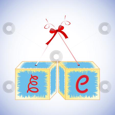 Cubes alphabet E stock vector clipart, Cubes alphabet E, abstract art illustration by Laschon Robert Paul