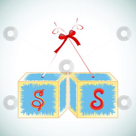 Cubes alphabet S stock vector clipart, Cubes alphabet S, abstract art illustration by Laschon Robert Paul
