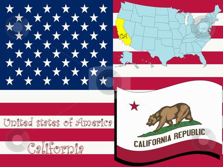 California state illustration stock vector clipart, California state illustration, abstract vector art by Laschon Robert Paul