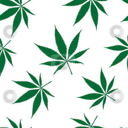 Cannabis seamless pattern stock vector clipart, Cannabis seamless pattern, abstract texture; vector art illustration by Laschon Robert Paul
