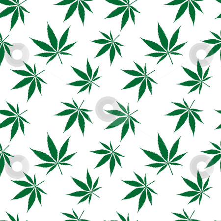 Cannabis seamless pattern extended stock vector clipart, Cannabis seamless pattern extended, abstract texture; vector art illustration by Laschon Robert Paul