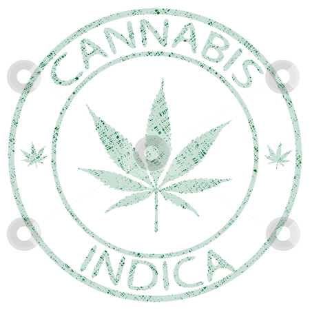 Cannabis indica stamp stock vector clipart, Cannabis indica stamp isolated on white background, abstract vector art illustration by Laschon Robert Paul