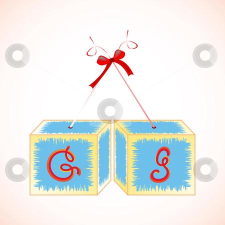 Cubes alphabet G stock vector clipart, Cubes alphabet G, abstract art illustration by Laschon Robert Paul