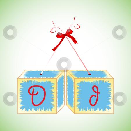 Cubes alphabet D stock vector clipart, Cubes alphabet D, abstract art illustration by Laschon Robert Paul