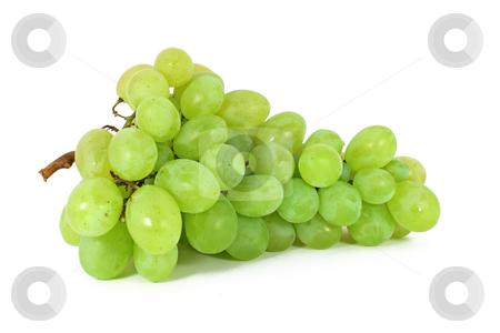 Ripe grapes stock photo, Ripe grapes isolated on white by Borislav Marinic