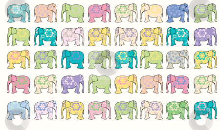 Elephant vector background stock vector clipart, Elephant vector background, vector art illustration by Laschon Robert Paul