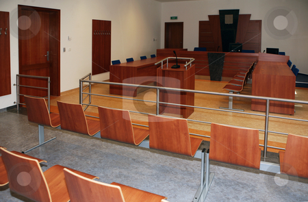 Interior of court house stock photo, Modern court house building interior, Czech republic by Tomas Hajek