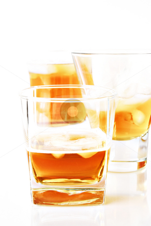 Cocktails stock photo, Cocktails glasses on white background by HD Connelly