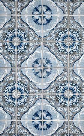 Portuguese glazed tiles stock photo, Closeup of Portuguese glazed tiles. by Homydesign