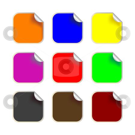 Fresh square labels stock vector clipart, Fresh square labels, vector art illustration by Laschon Robert Paul