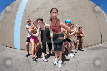 Athletes Posing stock photo, Pretty female runner poses for her
