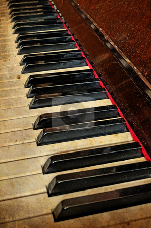 Grunge piano musical background  stock photo, Grunge piano musical background and added paper texture by fotosutra