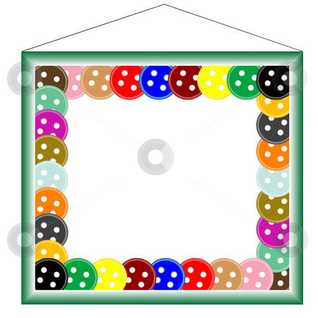Green frame for photos, with buttons stock vector clipart, Green frame for photos, with buttons, vector art illustrations by Laschon Robert Paul