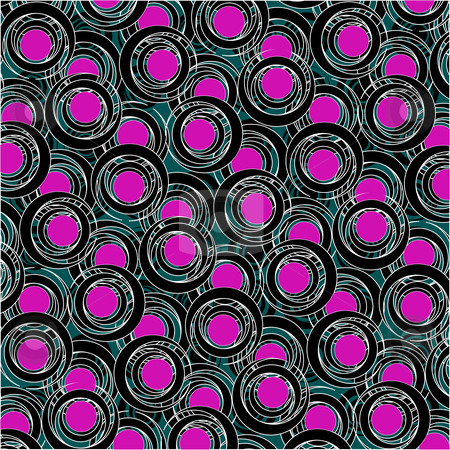 Purple and black circle pattern stock vector clipart, Purple and black circle pattern, vector art illustration; more drawings and patterns in my gallery by Laschon Robert Paul