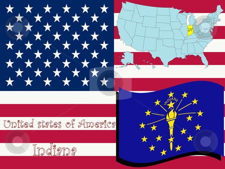 Indiana state illustration stock vector clipart, Indiana state illustration, abstract vector art by Laschon Robert Paul