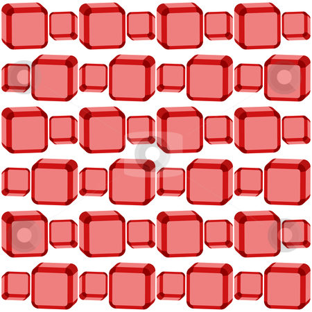 Seamless red cubes texture stock vector clipart, Seamless red cubes texture, abstract pattern; art illustration by Laschon Robert Paul