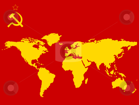 Russia abstract world map stock vector clipart, Russian flag colors and world's map, abstract vector art illustration by Laschon Robert Paul
