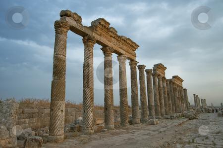 City of Aphamia, Syria stock photo, City of Aphamia, Syria by B.F.