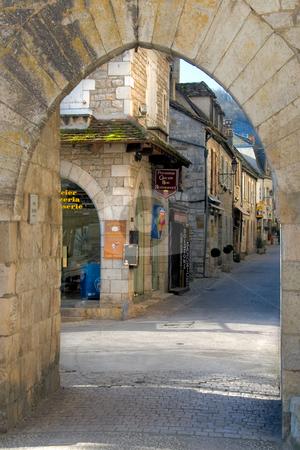 Street of Rocamadour, France stock photo, Street of Rocamadour, France by B.F.