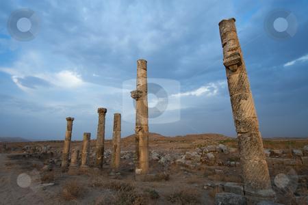 The city of Aphamia, Syria stock photo, The city of Aphamia, Syria by B.F.