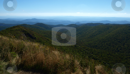 Into the valley stock photo, View along the Art Loeb Trail in the Shining Rock Area of the Pisgah Forest in North Carolina. by Tim Markley