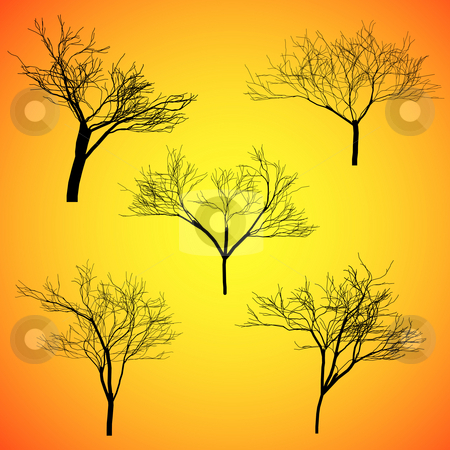 Five Silhouette Vector stock photo, Five Silhouette Vector. by Homydesign