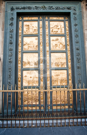 Florence Baptistery stock photo, Battistero di San Giovanni door in Florence Italy by Jaime Pharr