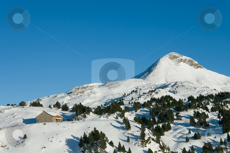 House in the snowy mountains, Larra-Belagua, Navarra stock photo, House in the snowy mountains, Larra-Belagua, Navarra by B.F.