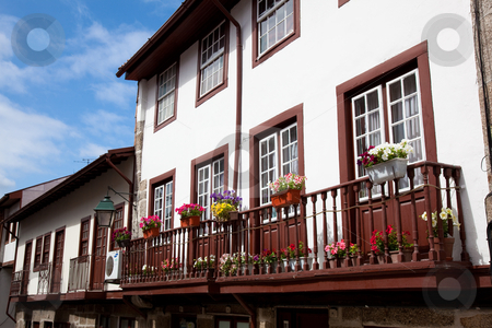 Houses in Guimaraes, Portugal stock photo, Houses in Guimaraes, Portugal by B.F.