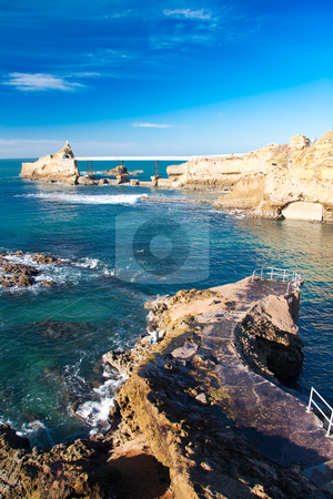 Coast of Biarritz, France stock photo, Coast of Biarritz, France by B.F.