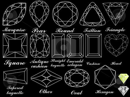 White diamonds against black stock vector clipart, White diamonds against black background, abstract vector art illustration by Laschon Robert Paul