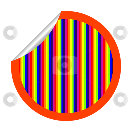 Rainbow stripes sticker isolated on white stock vector clipart, Rainbow stripes sticker isolated on white, vector art illustration; more stickers in my gallery by Laschon Robert Paul