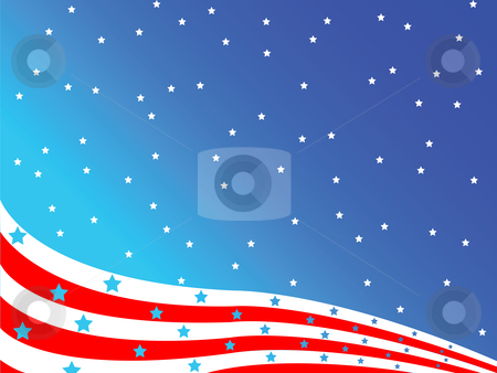 Stylized american flag stock vector clipart, Stylized american flag, vector art illustration; easy to modify colors or background by Laschon Robert Paul