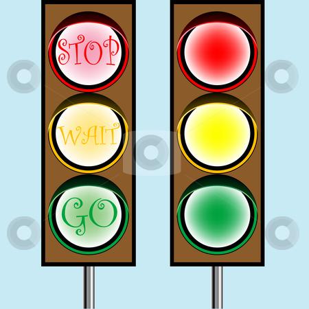 Traffic lights stock vector clipart, Traffic lights cartoon, abstract vector art illustration by Laschon Robert Paul
