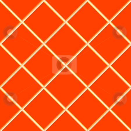 Orange seamless ceramic tiles stock vector clipart, Orange seamless ceramic tiles, abstract texture; vector art illustration by Laschon Robert Paul